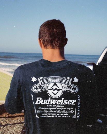 0 Budweiser Insignia Long Sleeve T-Shirt Blue 9513180 Billabong