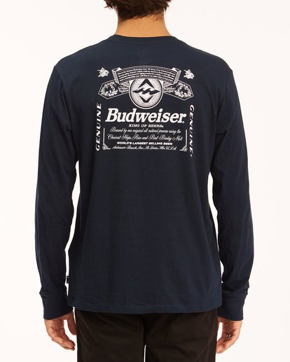 3 Budweiser Insignia Long Sleeve T-Shirt Blue 9513180 Billabong