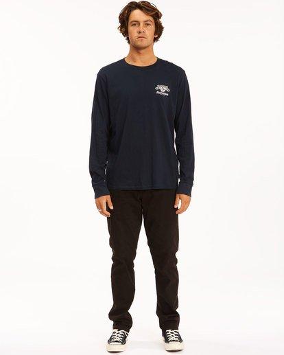 6 Budweiser Insignia Long Sleeve T-Shirt Blue 9513180 Billabong