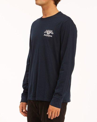 2 Budweiser Insignia Long Sleeve T-Shirt Blue 9513180 Billabong