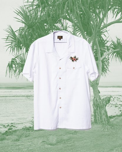2 Wrangler Dakota Hemp Vacay Short Sleeve Shirt Beige 9513201 Billabong