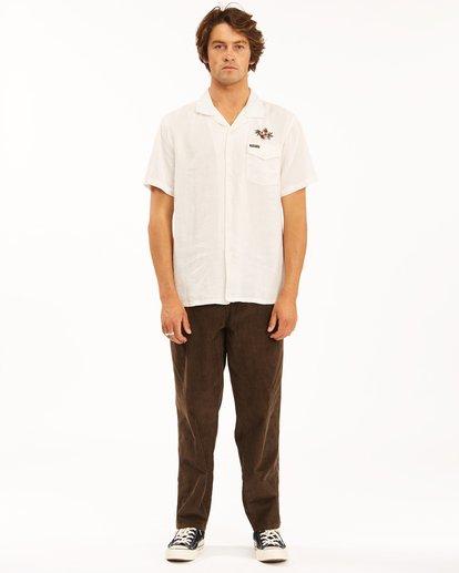7 Wrangler Dakota Hemp Vacay Short Sleeve Shirt Beige 9513201 Billabong