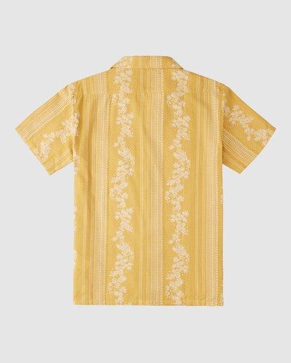9 Wrangler Other Side Vacay Short Sleeve Shirt Yellow 9513202 Billabong