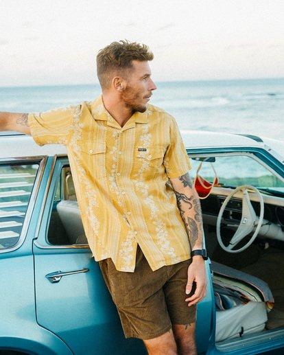 1 Wrangler Other Side Vacay Short Sleeve Shirt Yellow 9513202 Billabong