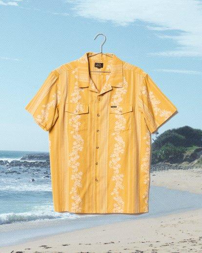 2 Wrangler Other Side Vacay Short Sleeve Shirt Yellow 9513202 Billabong