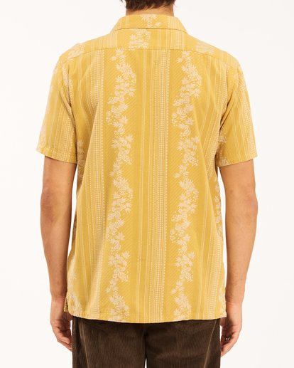 5 Wrangler Other Side Vacay Short Sleeve Shirt Yellow 9513202 Billabong