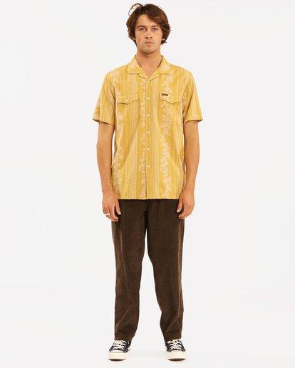 7 Wrangler Other Side Vacay Short Sleeve Shirt Yellow 9513202 Billabong