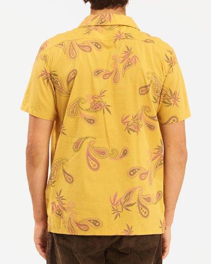 4 Wrangler Hazy Paisley Vacay Short Sleeve Shirt Yellow 9513203 Billabong