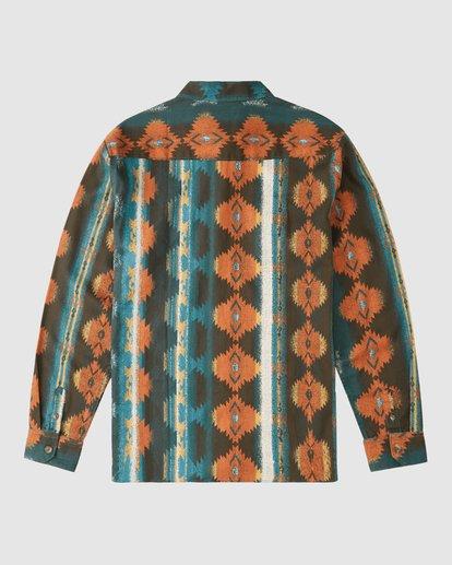 7 Wrangler Westward Twill Long Sleeve Shirt Brown 9513204 Billabong