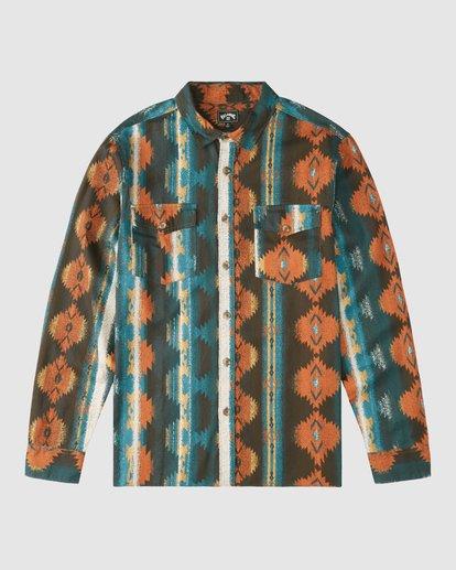 6 Wrangler Westward Twill Long Sleeve Shirt Brown 9513204 Billabong