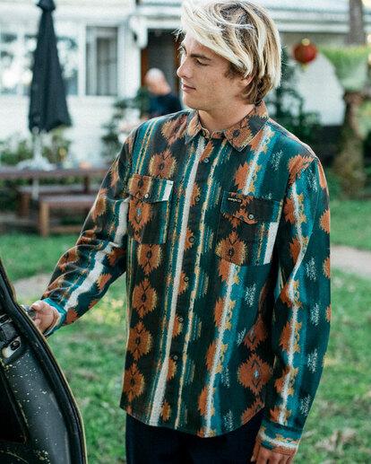 0 Wrangler Westward Twill Long Sleeve Shirt Brown 9513204 Billabong