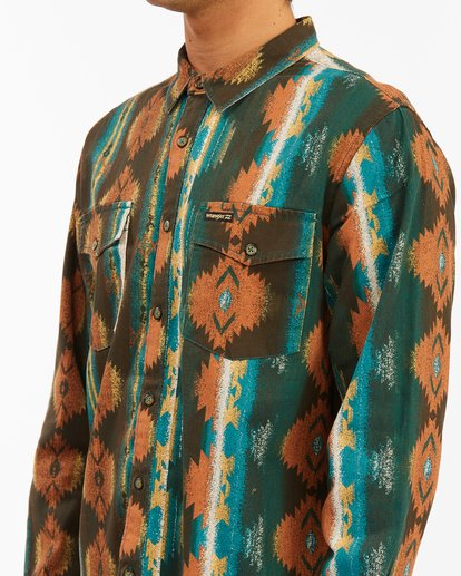 5 Wrangler Westward Twill Long Sleeve Shirt Brown 9513204 Billabong
