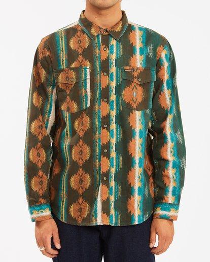 2 Wrangler Westward Twill Long Sleeve Shirt Brown 9513204 Billabong