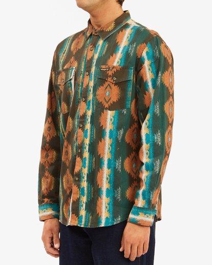 3 Wrangler Westward Twill Long Sleeve Shirt Brown 9513204 Billabong