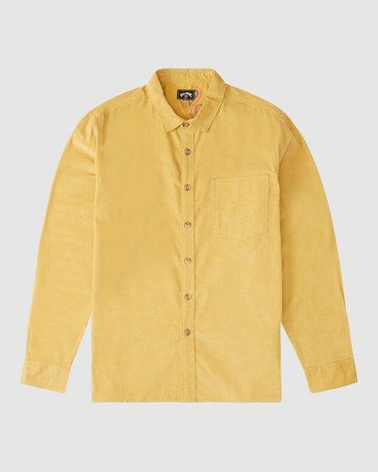 7 Wranlger Bowie Cord Long Sleeve Shirt White 9513205 Billabong