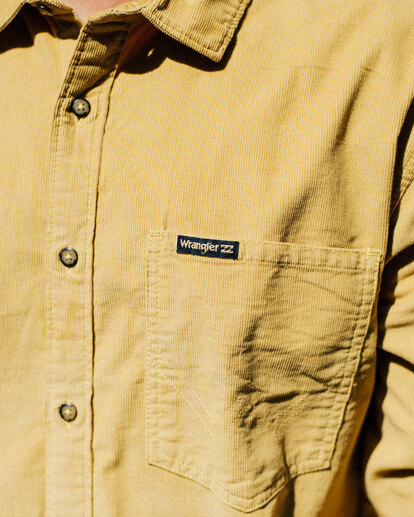 1 Wranlger Bowie Cord Long Sleeve Shirt White 9513205 Billabong