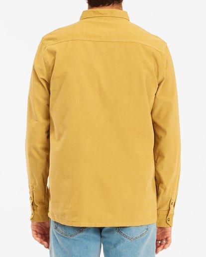 4 Wranlger Bowie Cord Long Sleeve Shirt White 9513205 Billabong