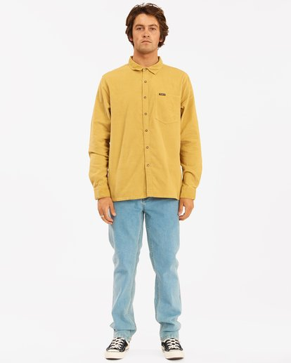 6 Wranlger Bowie Cord Long Sleeve Shirt White 9513205 Billabong