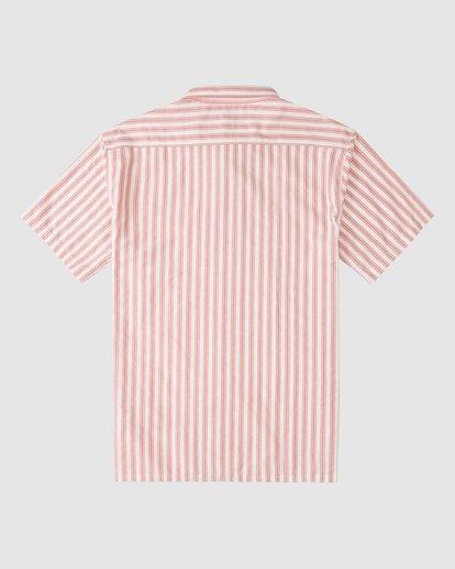 5 Budweiser Bow Stripe Short Sleeve Shirt Red 9513215 Billabong