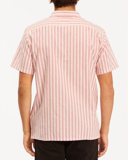 2 Budweiser Bow Stripe Short Sleeve Shirt Red 9513215 Billabong