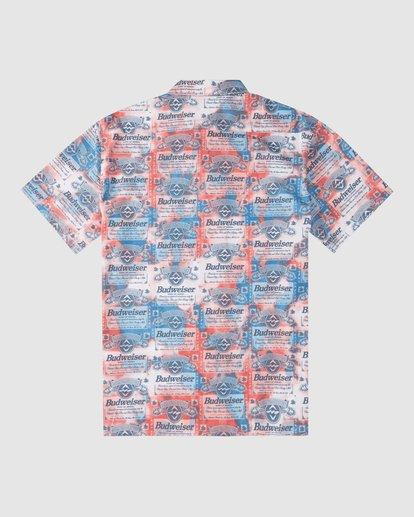 6 Budweiser Insignia Short Sleeve T-Shirt Red 9513216 Billabong