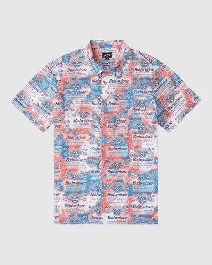 5 Budweiser Insignia Short Sleeve T-Shirt Red 9513216 Billabong