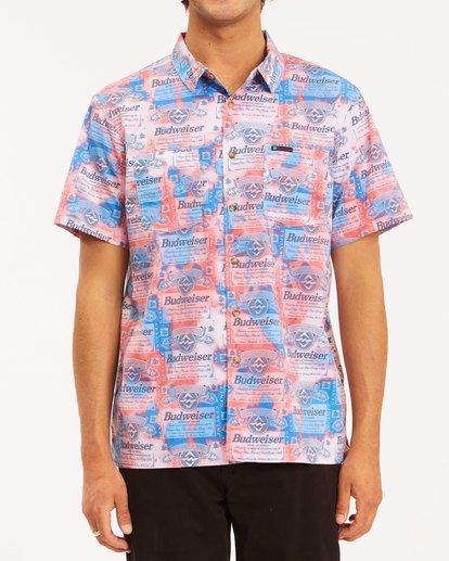 1 Budweiser Insignia Short Sleeve T-Shirt Red 9513216 Billabong