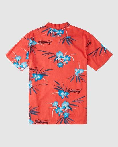 6 Budweiser Vacay Short Sleeve Shirt Red 9513217 Billabong