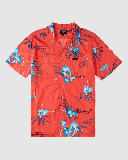 5 Budweiser Vacay Short Sleeve Shirt Red 9513217 Billabong