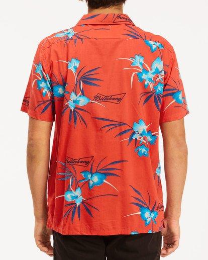 3 Budweiser Vacay Short Sleeve Shirt Red 9513217 Billabong
