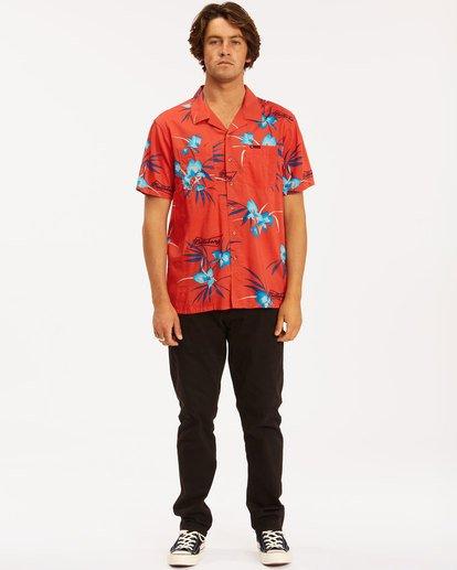 4 Budweiser Vacay Short Sleeve Shirt Red 9513217 Billabong