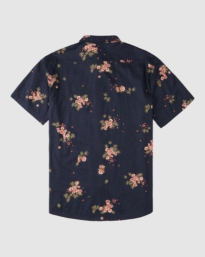 7 Wrangler Rose Garden Short Sleeve Shirt Purple 9513218 Billabong