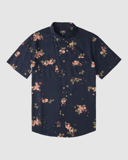 6 Wrangler Rose Garden Short Sleeve Shirt Purple 9513218 Billabong