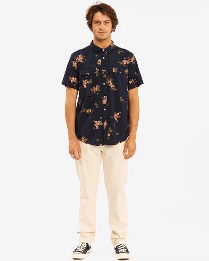 5 Wrangler Rose Garden Short Sleeve Shirt Purple 9513218 Billabong