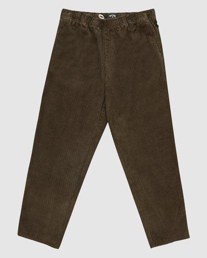 6 Wrangler Bowie Layback Pants Brown 9513302 Billabong