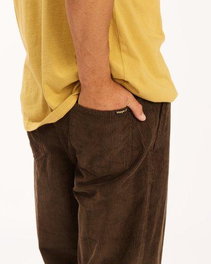 4 Wrangler Bowie Layback Pants Brown 9513302 Billabong