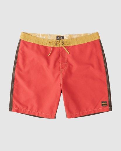 3 Wrangler Icons Lowtide Boardshorts Red 9513423 Billabong