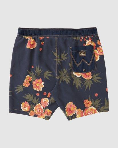 4 Wrangler Rose Garden Layback Boardshorts Purple 9513434 Billabong