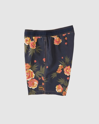 6 Wrangler Rose Garden Layback Boardshorts Purple 9513434 Billabong