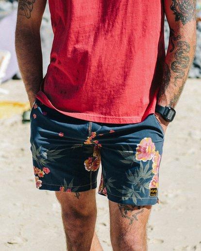1 Wrangler Rose Garden Layback Boardshorts Purple 9513434 Billabong