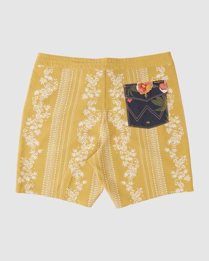 2 Wrangler Other Side Stripe Lowtide Boardshorts Yellow 9513436 Billabong
