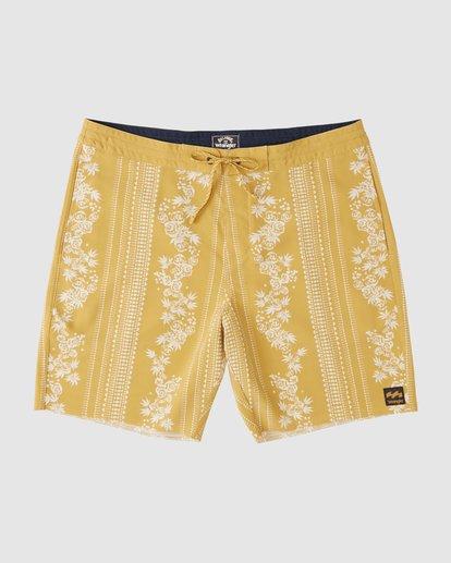 1 Wrangler Other Side Stripe Lowtide Boardshorts Yellow 9513436 Billabong