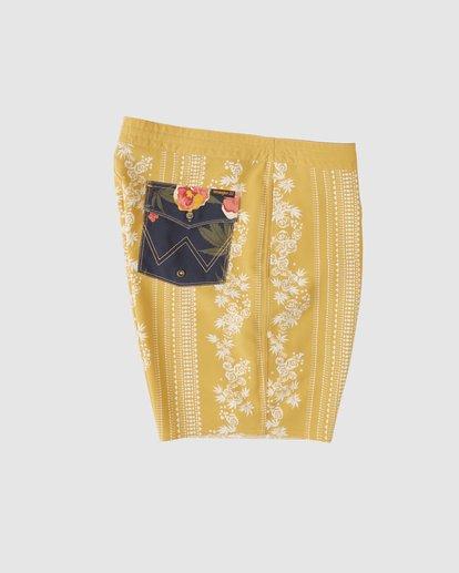 3 Wrangler Other Side Stripe Lowtide Boardshorts Yellow 9513436 Billabong