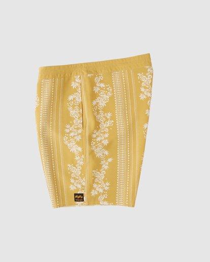4 Wrangler Other Side Stripe Lowtide Boardshorts Yellow 9513436 Billabong
