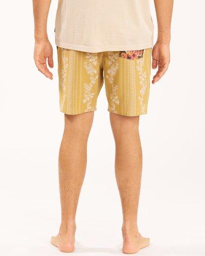 8 Wrangler Other Side Stripe Lowtide Boardshorts Yellow 9513436 Billabong