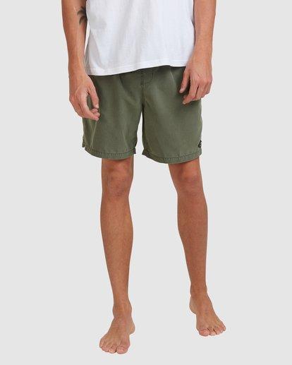 7 All Day Overdye Layback Boardshorts Green 9513452 Billabong