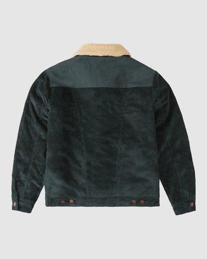 9 Wrangler Range Cord Sherpa Jacket Green 9513904 Billabong