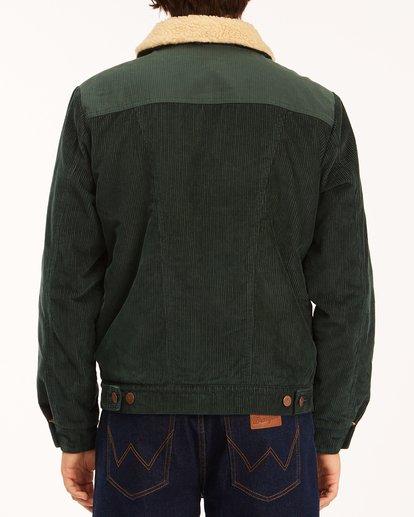 4 Wrangler Range Cord Sherpa Jacket Green 9513904 Billabong