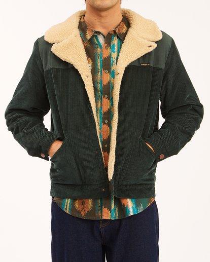 5 Wrangler Range Cord Sherpa Jacket Green 9513904 Billabong