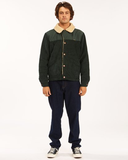 7 Wrangler Range Cord Sherpa Jacket Green 9513904 Billabong
